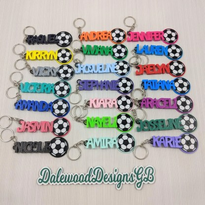 Football Keyrings in various colours