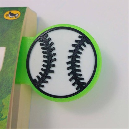 Personalised baseball bookmark