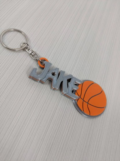 Personalised Basketball Keyring