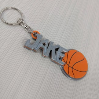 Personalised Basketball Keyring