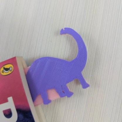 Dinosaur Bookmark 5 in Pink and Purple