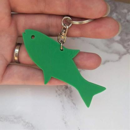 Back of fish shaped keyring