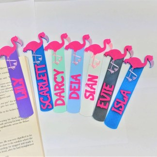 Flamingo themed bookmark