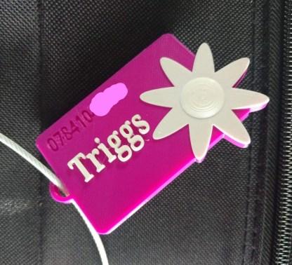 personalised luggage tag - flower
