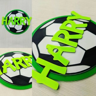 Personalised football door sign