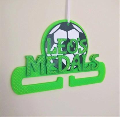 Football themed medal holder