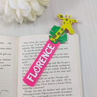 Giraffe Bookmark with name