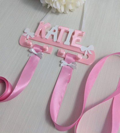 Personalised Hair clip and bow holder