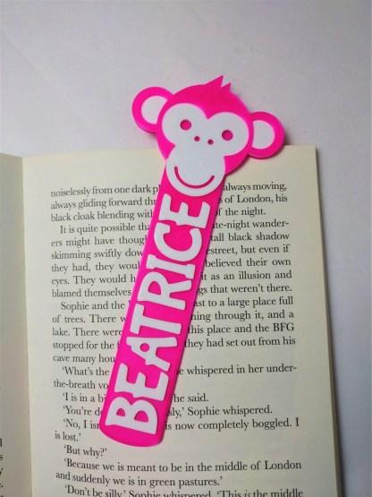 Monkey themed bookmark