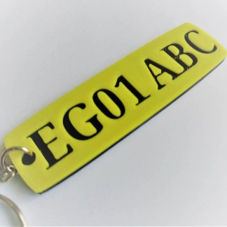 Numberplate keyring / car registration