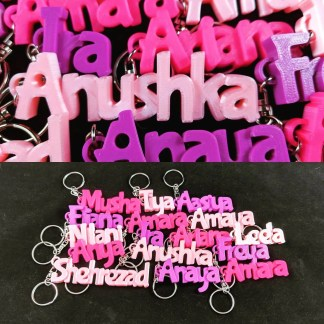 personalised keyring / key-chain