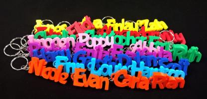 Personalised keyring name tag - various colours