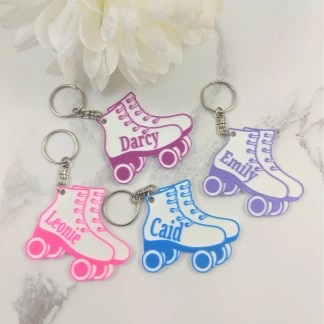 Rollerskate keyrings in various colours