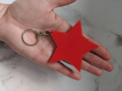 back of star keyring