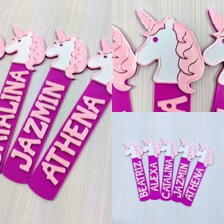 Unicorn themed bookmark