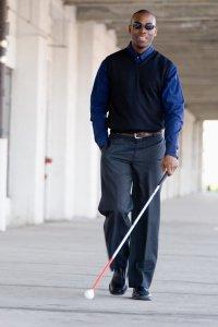 Blind man evanston disability attorney