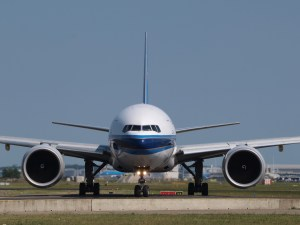 Plane at airport - waiting for take-off
