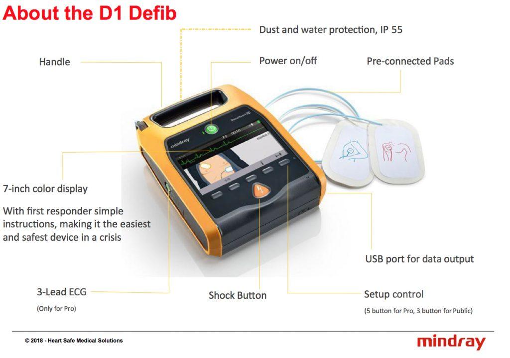 Mindray BeneHeart D1 Public Semi Automatic Defibrillator