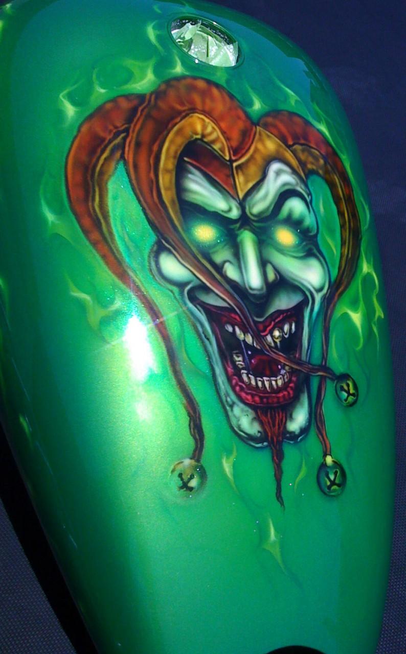 Airbrushed Joker Motorcycle Dallas AirbrushDallas Airbrush