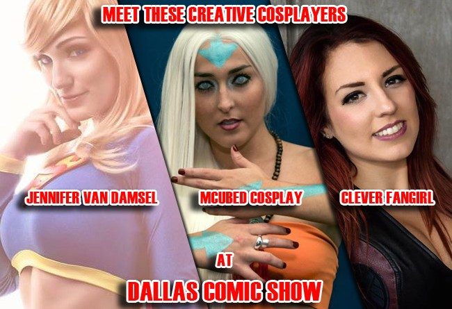 Jennifer Van Damsel, MCubed Cosplay and Clever Fangirl kick off our Cosplay Guests for Feb 11-12