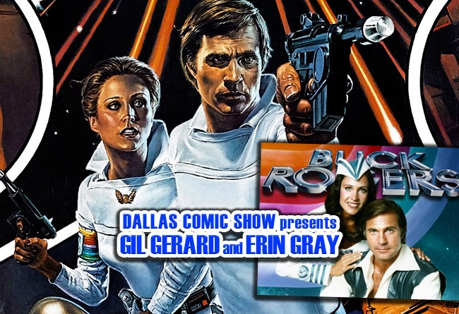 BUCK ROGERS stars Gil Gerard and Erin Gray join DCS Feb 11-12!