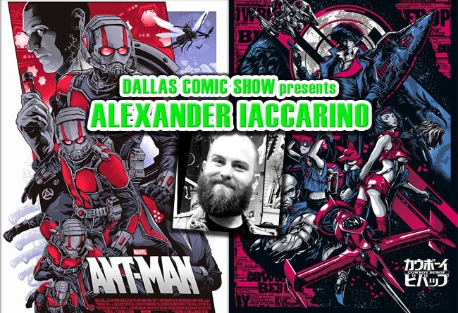 Marvel and Playstation screenprint artist Alexander Iaccarino comes to DCS Feb 11-12