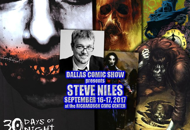WINNEBAGO GRAVEYARD, 30 DAYS OF NIGHT and SIMON DARK writer Steve Niles comes to DCS Sept 16-17
