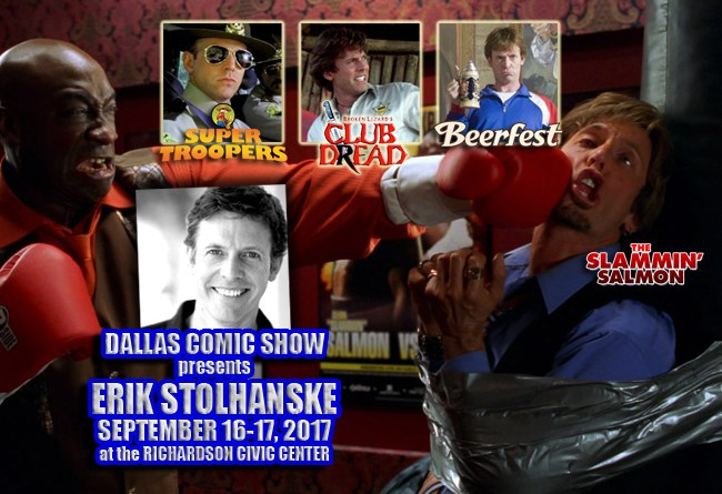 Broken Lizard's Erik Stolhanske from SUPER TROOPERS and BEERFEST joins DCS Sept 16-17