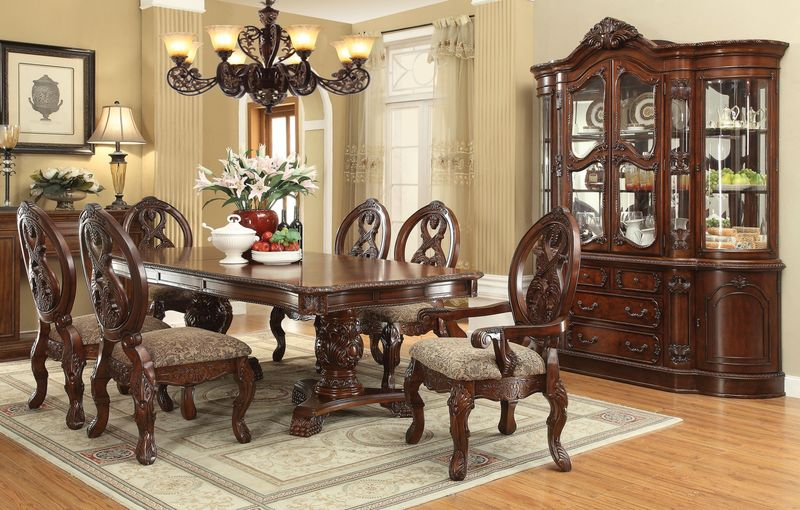 Acme 60800 Rovledo Formal Dining Room Set With Pedestal