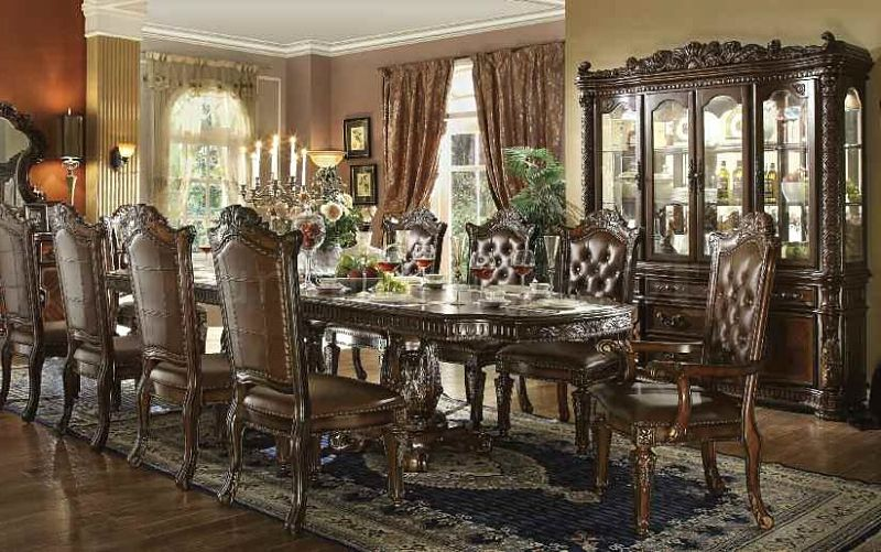 Acme 62000 Vendome Formal Dining Room Set In Cherry