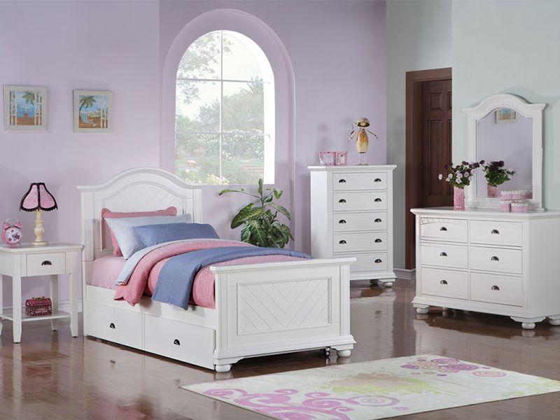 dallas designer furniture brook white bedroom set on Cheap Childrens Bedroom Furniture Sets id=15180