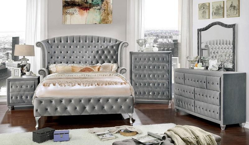 cm7150 alzir gray bedroom set furniture of america free delivery