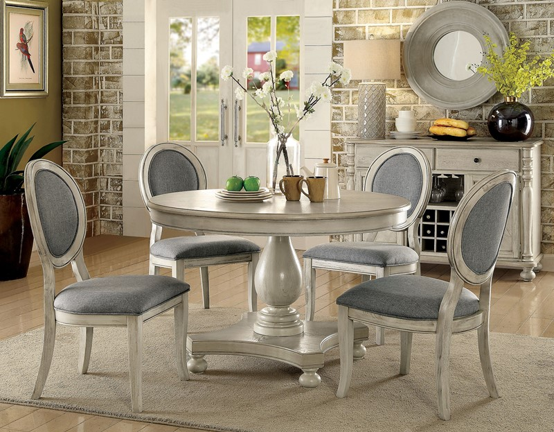 Furniture Of America CM3872WH RT Kathryn Formal Dining