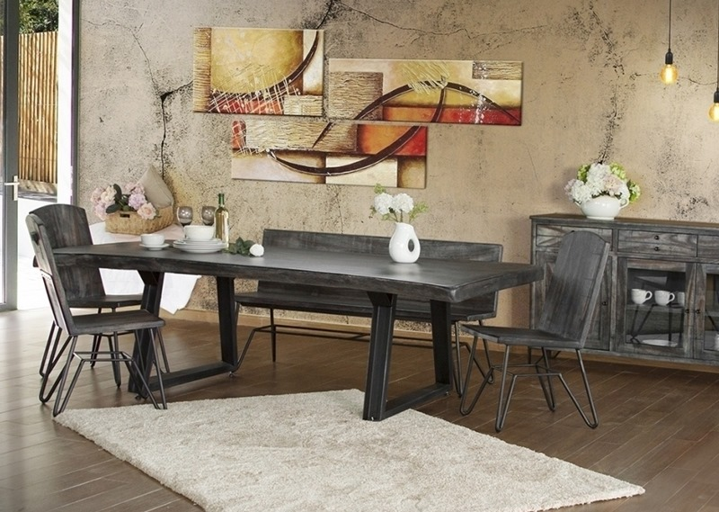 Ifd Furniture 686 Moro Rustic Dining Room Set With Bench