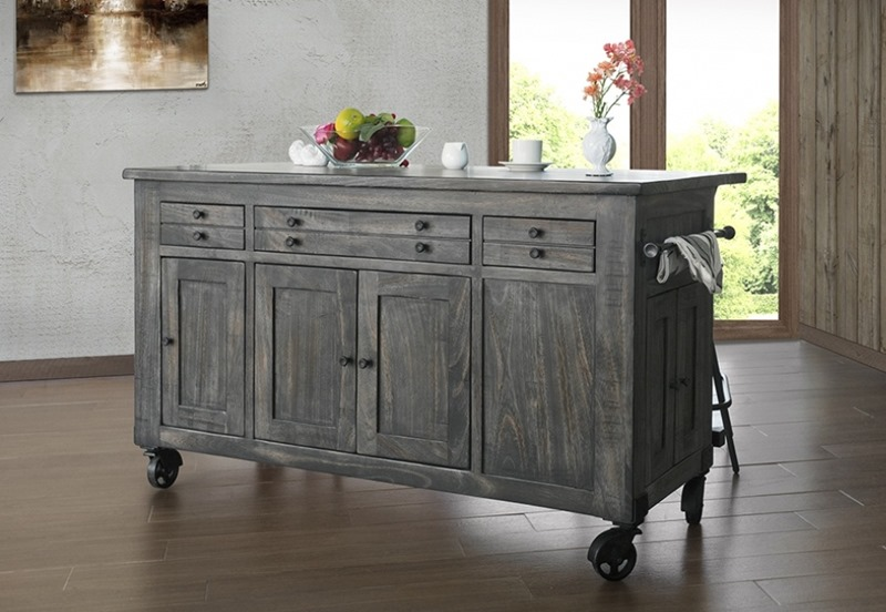 Ifd Furniture 686 Moro Rustic Kitchen Island Dallas