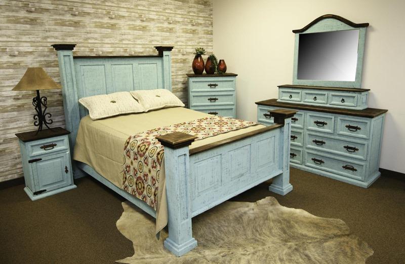 lmt oasis turquoise washed rustic bedroom set dallas designer furniture