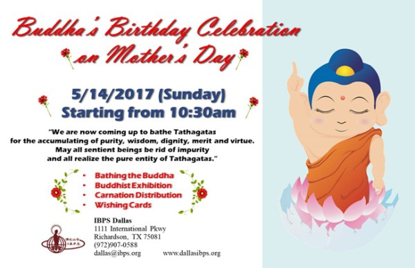 Buddha's Birthday Celebration on Mother's Day | IBPS Dallas