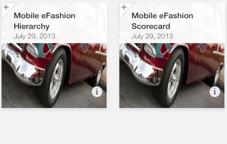 SAP Mobile BI 5.0 Thumbnails