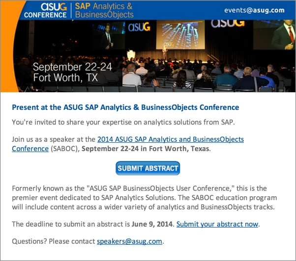 ASUG SAP Analytics and BusinessObjects User Conference