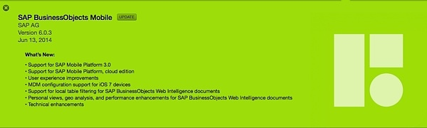 SAP BusinessObjects Mobile BI 6.0.3
