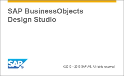 SAP Design Studio 1.3 Splash