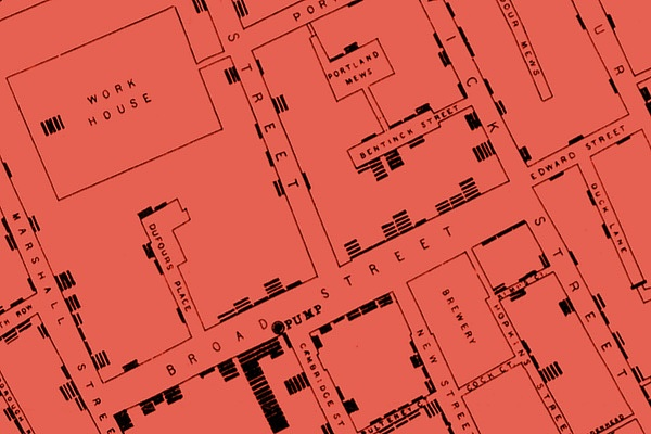 John Snow's 1854 Cholera Outbreak Map