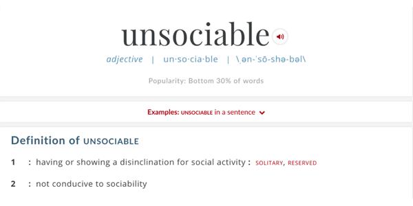 Unsociable Media