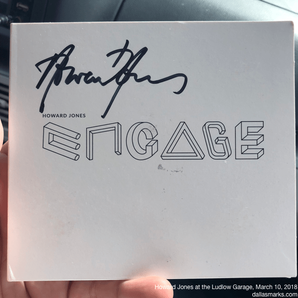 Howard Jones Engage CD with autographed cover
