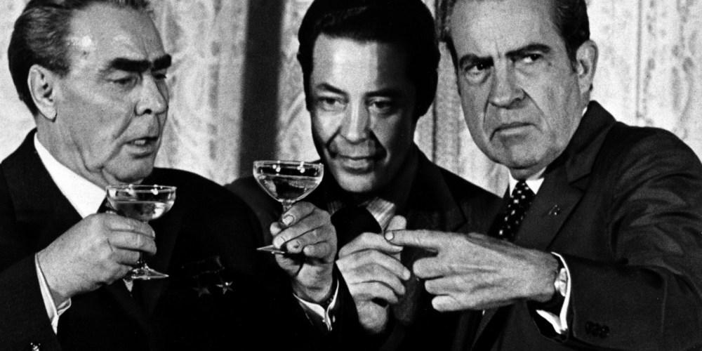Brezhnev, Nixon and Russian Interpreter