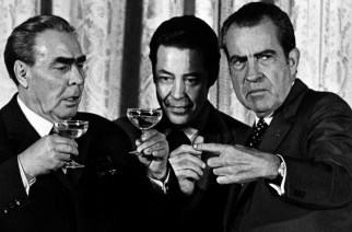 Brezhnev, Nixon and Russian Interpreter