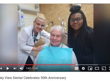 Valley View Dental Celebrates 50th Anniversary. Dr. Irina Hayrapetyan and the oldest patient of the clinic.