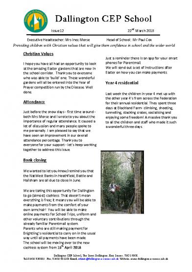 Newsletter 1222/03/2018