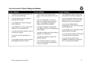 History Assessment Criteria