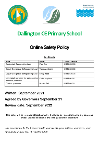 Online Safety Policy September 2021